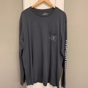 Vineyard Vines Long-Sleeve Gray T-Shirt